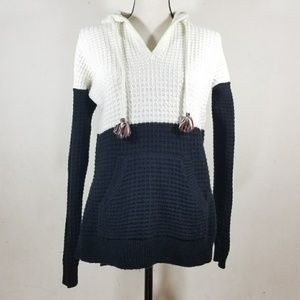 Madewell color block hooded sweater